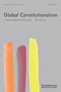 Cover of Global Constitutionalism: Print Only
