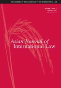 Cover of Asian Journal of International Law: Print + Online
