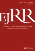 Cover of European Journal of Risk Regulation: Print + Online