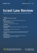 Cover of Israel Law Review: Print + Online