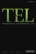 Cover of Transnational Environmental Law: Print + Online