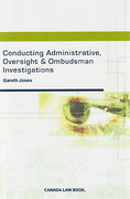 Cover of Conducting Administrative, Oversight and Ombudsman Investigations