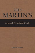 Cover of Martin's Annual Criminal Code 2015