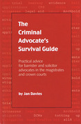 Cover of The Criminal Advocate's Survival Guide