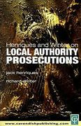 Cover of Henriques and Winter on Local Authority Prosecutions