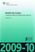 Cover of CCH British Tax Guide: Hutton & McKie on Stamp Duty Land Tax 2009-10