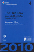 Cover of The Blue Book: Annotated Double Tax Treaties 2010