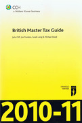 Cover of CCH British Master Tax Guide 2010-11