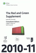 Cover of CCH The Red and Green Supplement 2010 - 11: Finance Act (No 3) 2010