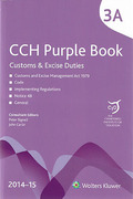 Cover of CCH The Purple Book: Customs and Excise Duties 2014-15