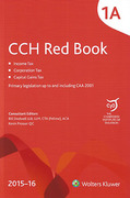 Cover of CCH The Red Book 2015-16 (Volumes 1A, 1B, 1C, 1D, 1E, 1F, 1G, 1H, Index with Supplement)