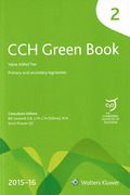 Cover of CCH The Green Book 2015-16 with Supplement