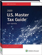 Cover of CCH US Master Tax Guide 2020