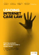 Cover of Leading Internet Case Law: Print + Single-User Online Access