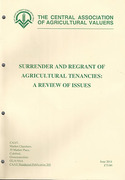 Cover of Surrender and Regrant of Agricultural Tenancies: A Review of Issues