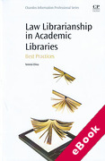 Cover of Law Librarianship in Academic Libraries: Best Practices (eBook)