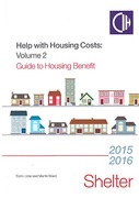 Cover of Help with Housing Costs Volume 2: Guide to Housing Benefit 2015/16