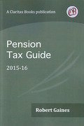 Cover of Pension Tax Guide 2015-16