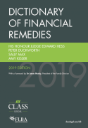 Cover of Dictionary of Financial Remedies 2019