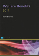 Cover of College of Law LPC: Welfare Benefits 2011