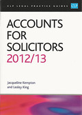 Cover of CLP Legal Practice Guides: Accounts for Solicitors 2012/13
