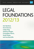 Cover of CLP Legal Practice Guides: Legal Foundations 2012/13