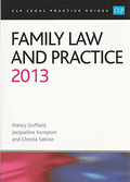 Cover of CLP Legal Practice Guides: Family Law and Practice 2013