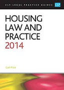 Cover of CLP Legal Practice Guides: Housing Law and Practice 2014