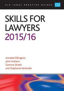 Cover of CLP Legal Practice Guides: Skills for Lawyers 2015/16