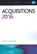 Cover of CLP Legal Practice Guides: Acquisitions 2016