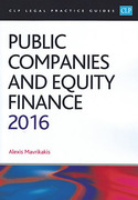 Cover of CLP Legal Practice Guides: Public Companies and Equity Finance 2016