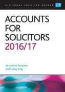 Cover of CLP Legal Practice Guides: Accounts for Solicitors 2016/17