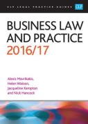 Cover of CLP Legal Practice Guides: Business Law and Practice 2016/17