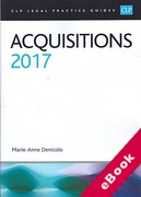 Cover of CLP Legal Practice Guides: Acquisitions 2017 (eBook)