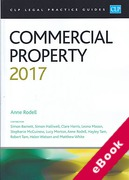 Cover of CLP Legal Practice Guides: Commercial Property 2017 (eBook)