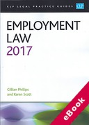 Cover of CLP Legal Practice Guides: Employment Law 2017 (eBook)