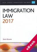 Cover of CLP Legal Practice Guides: Immigration Law 2017 (eBook)