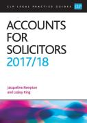 Cover of CLP Legal Practice Guides: Accounts for Solicitors 2017/18