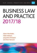 Cover of CLP Legal Practice Guides: Business Law and Practice 2017/18