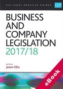 Cover of CLP Legal Practice Guides: Business and Company Legislation 2017/18 (eBook)