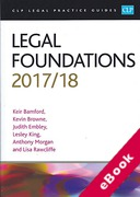 Cover of CLP Legal Practice Guides: Legal Foundations 2017/18 (eBook)