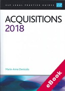 Cover of CLP Legal Practice Guides: Acquisitions 2018 (eBook)