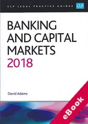 Cover of CLP Legal Practice Guides: Banking and Capital Markets 2018 (eBook)