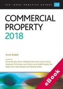 Cover of CLP Legal Practice Guides: Commercial Property 2018 (eBook)