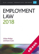 Cover of CLP Legal Practice Guides: Employment Law 2018 (eBook)