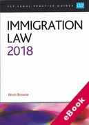 Cover of CLP Legal Practice Guides: Immigration Law 2018 (eBook)