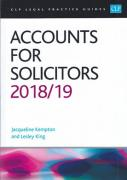 Cover of CLP Legal Practice Guides: Accounts for Solicitors 2018/19