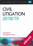 Cover of CLP Legal Practice Guides: Civil Litigation 2018/2019 (eBook)