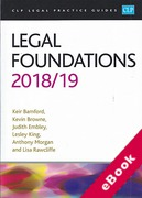 Cover of CLP Legal Practice Guides: Legal Foundations 2018/19 (eBook)
