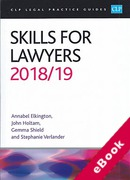 Cover of CLP Legal Practice Guides: Skills for Lawyers 2018/19 (eBook)